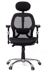 image for chair portfolio gallery, ergonomic chair front view