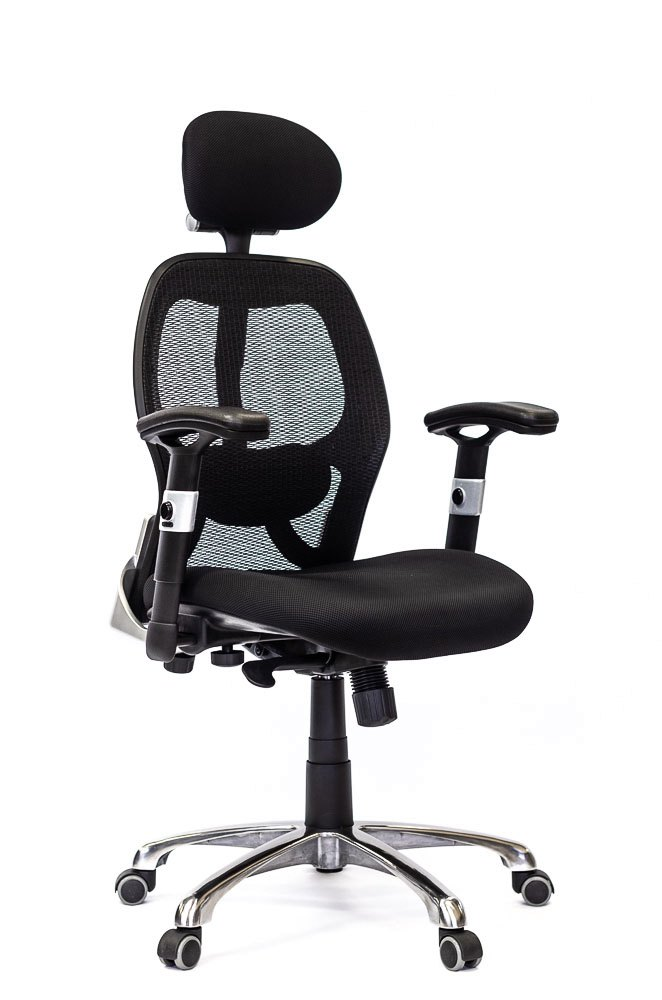 image for chair portfolio gallery, ergonomic chair angle view