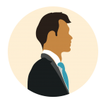 png of vector drawing, male avatar for testimonial carousel